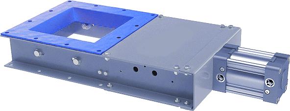 Ножевые затворы с пневматическим приводом серии VT NZP - описание и технические характеристики
