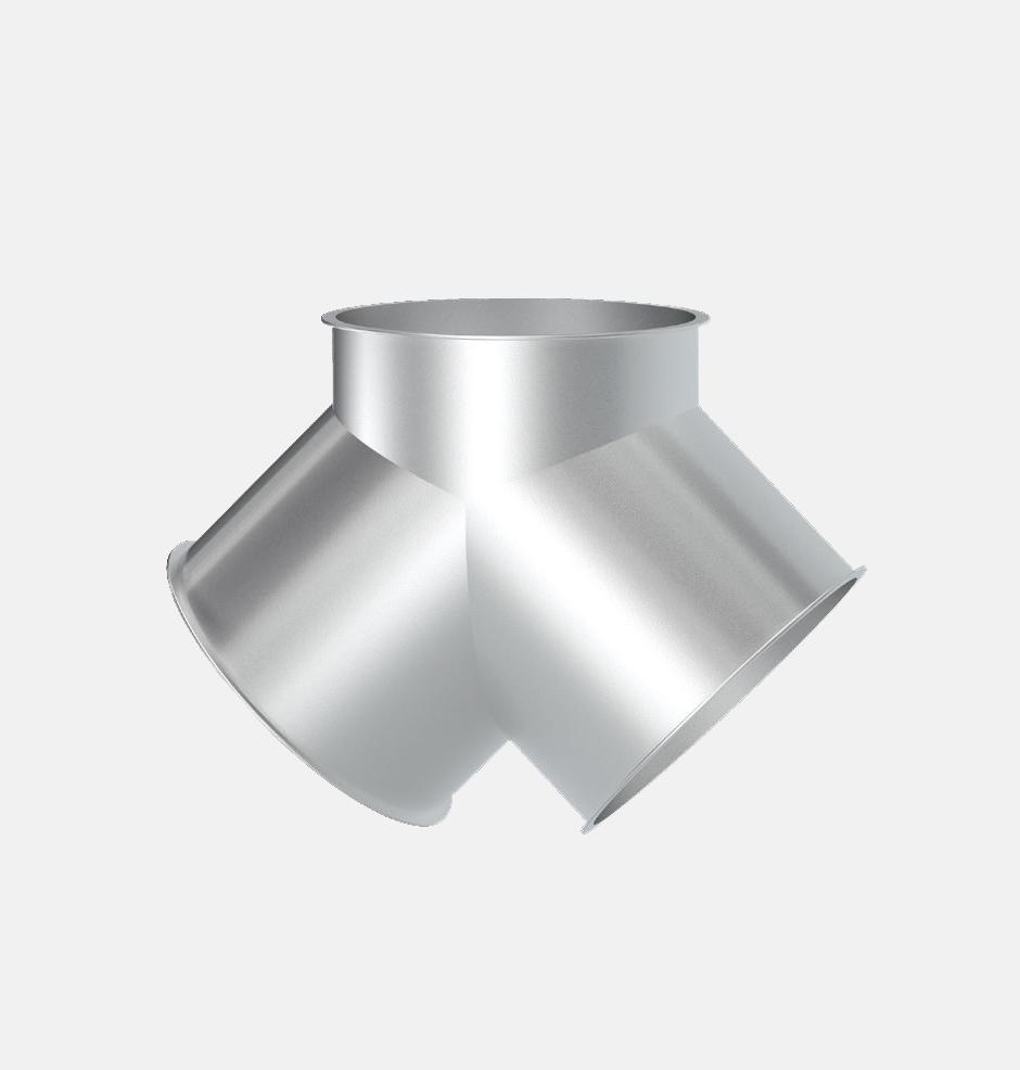 Y-образный симметричный тройник 90 градусов - описание и технические характеристики